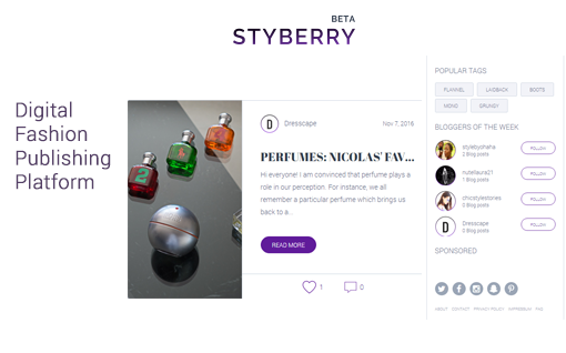 Styberry: a Digital Fashion Publishing Platform
