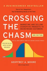 Cover for Crossing the Chasm: Marketing and Selling High-Tech Products to Mainstream Customers by Geoffrey A. Moore