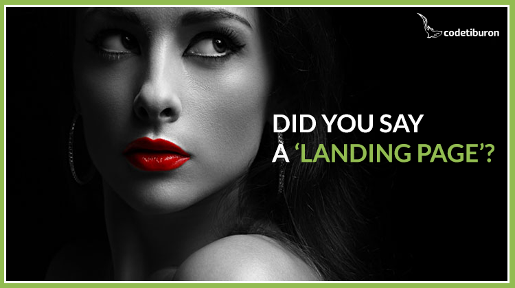 Did you say 'A landing page'?