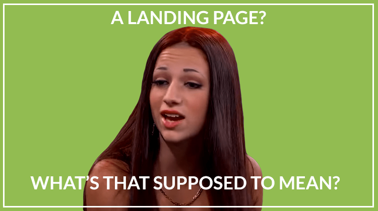 A 'landing page'? What's that supposed to mean?!