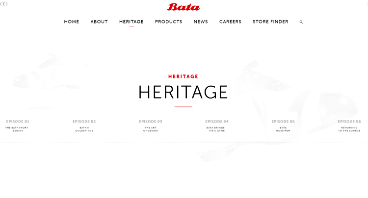 heritage section on a wordpress site