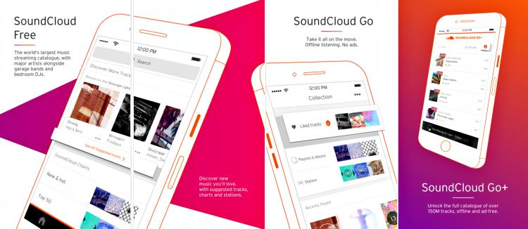 SoundCloud app screenshot
