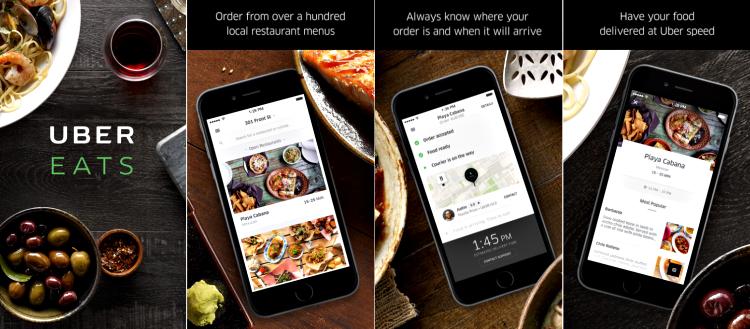UberEATS app screenshot