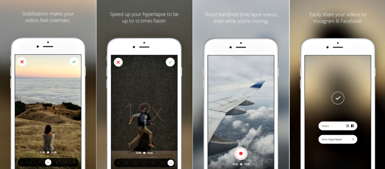 Hyperlapse app screenshot