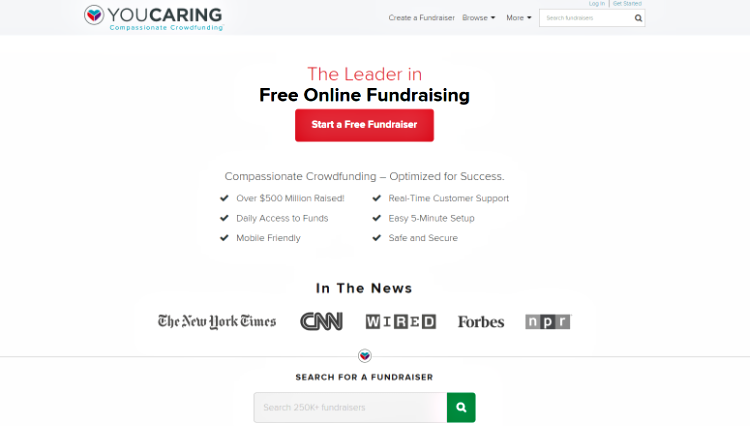YouCaring_crowdfunding website