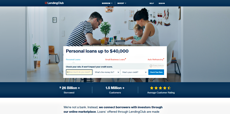 lending club crowdfunding website