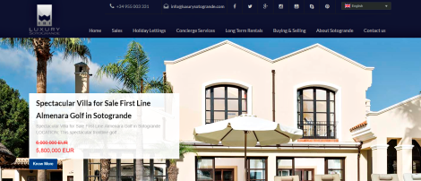 Real Estate Website: Advanced WP Solution for Luxury Sotogrande