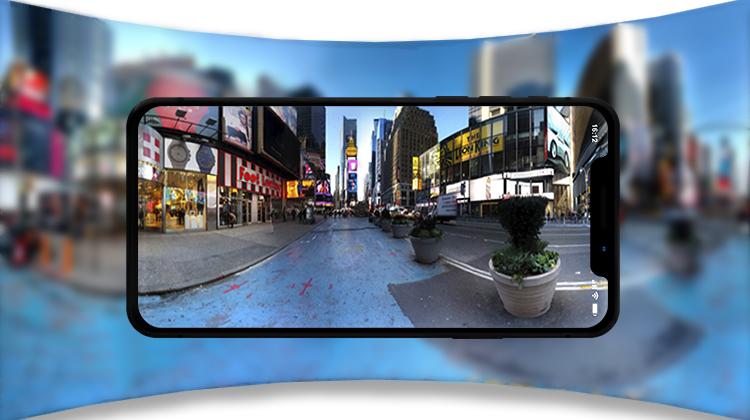 Create a 360-degree video