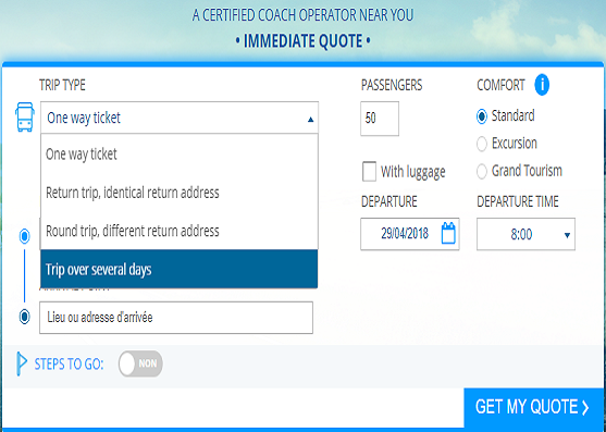 website calculator for bus itineraries at the core of franchise