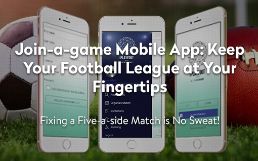 networking mobile app for football players header