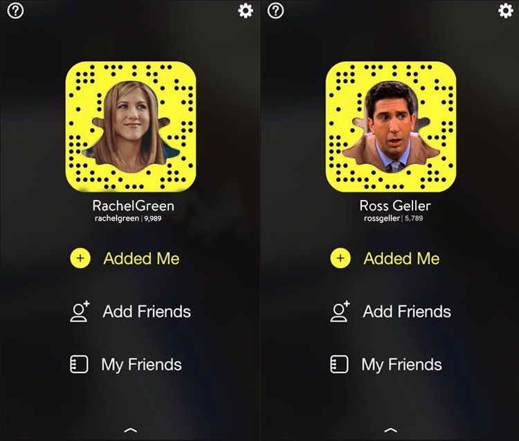 Snapchat feature set