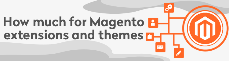 How much Magento extensions and themes
