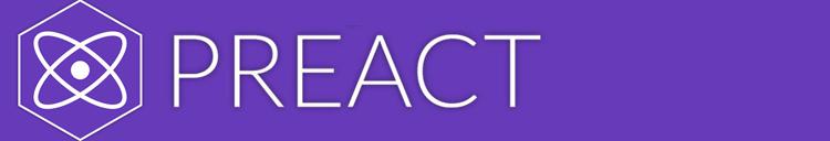 Preact framework for progressive web app development